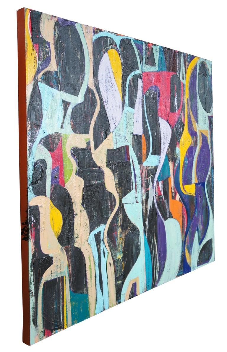 Jason fascination abstract Expressionist acrylic painting on canvas 66