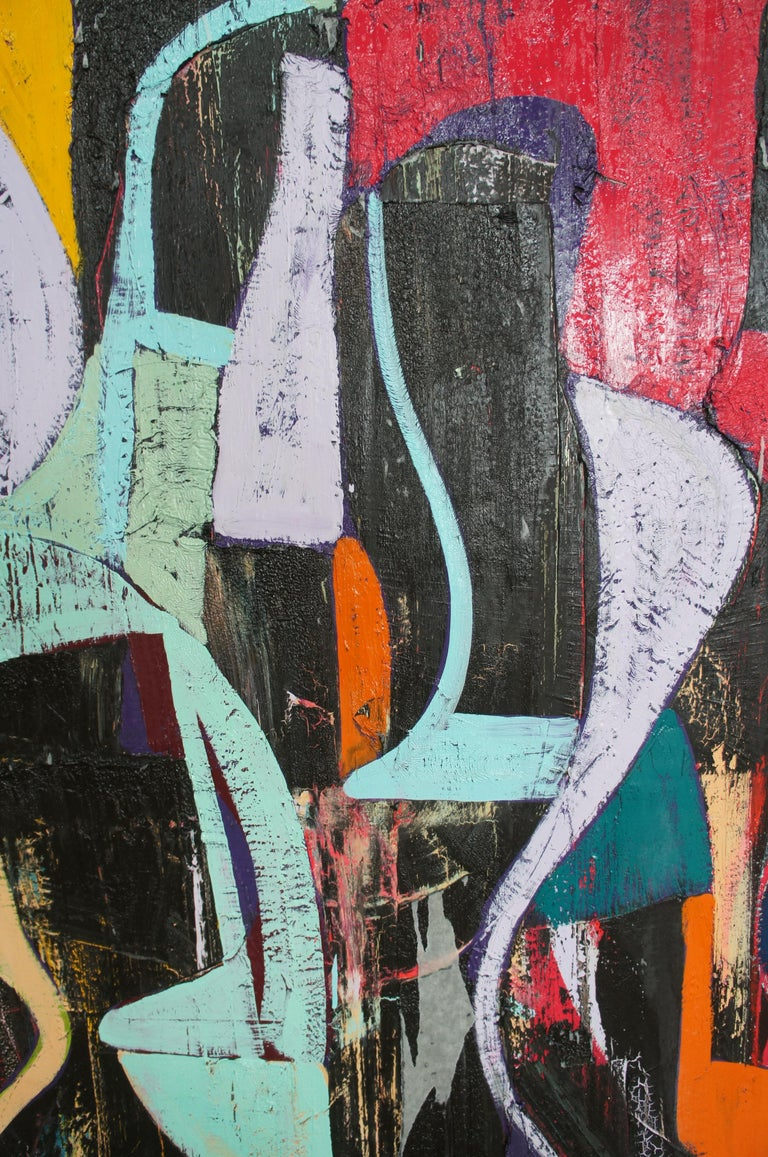 Jason Fascination Abstract Expressionist Acrylic Painting on Canvas For Sale 1