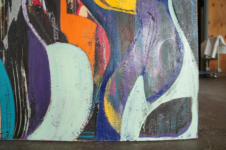Jason Fascination Abstract Expressionist Acrylic Painting on Canvas For Sale 2