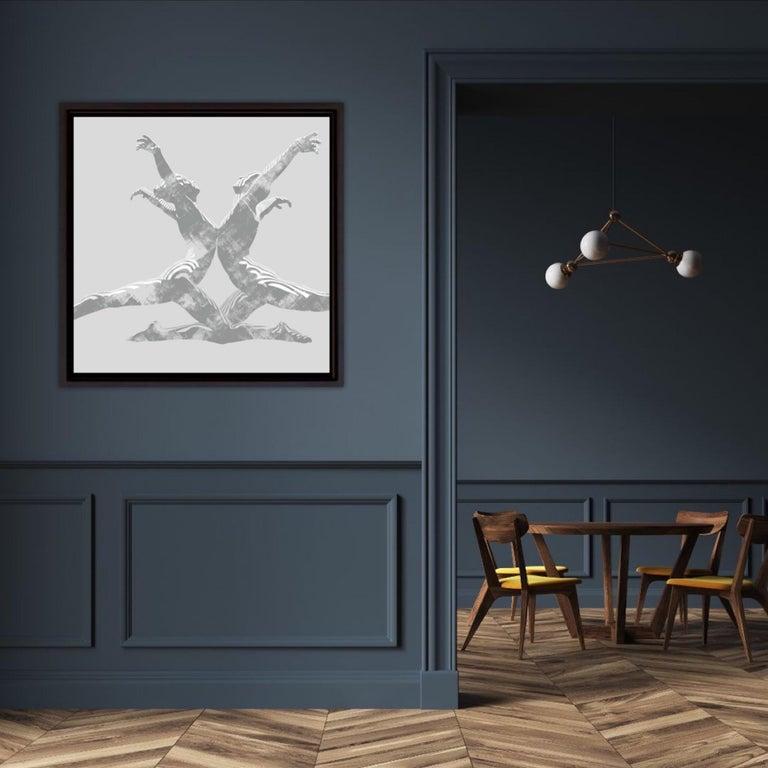 Jason Keeley, Echo in Grey, Contemporary Figurative Artwork, Affordable Artwork - Gray Print by Jason Keeley