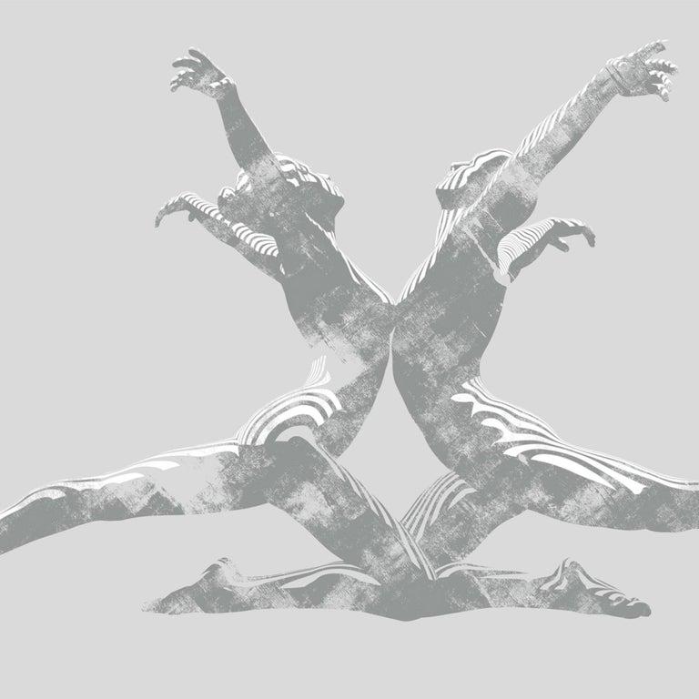 Jason Keeley, Echo in Grey, Contemporary Figurative Artwork, Affordable Artwork - Print by Jason Keeley