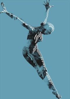 Jason Keeley, Gravity and Grace, Limited Edition Print, Contoured Figurative Art