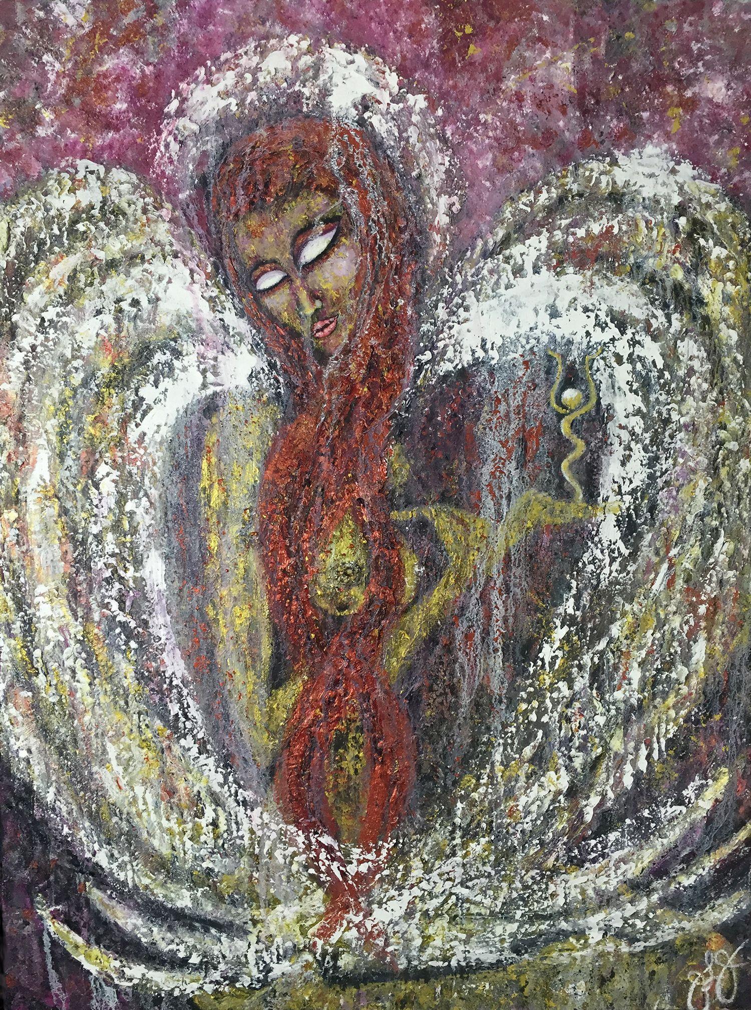 Ariel 5., Mixed Media on Canvas