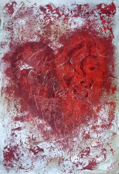 essen's heart 11., Mixed Media on Paper