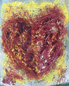 essen's heart 12., Mixed Media on Paper