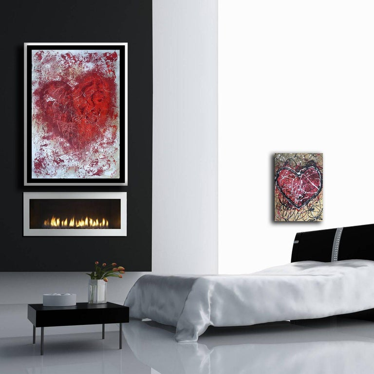 essen's heart 13., Mixed Media on Canvas - Abstract Mixed Media Art by Jason Lincoln Jeffers