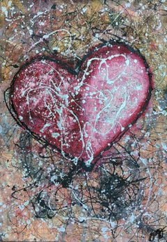 essen's heart 2., Mixed Media on Paper