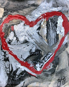 essen's heart 22., Mixed Media on Paper