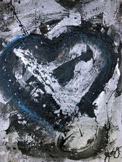 essen's heart 30., Mixed Media on Paper