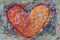 essen's heart 4., Mixed Media on Paper