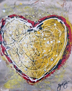 essen's heart 8., Mixed Media on Paper