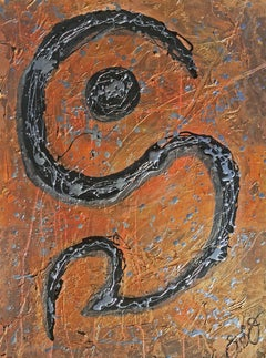 glyph 17., Mixed Media on Paper