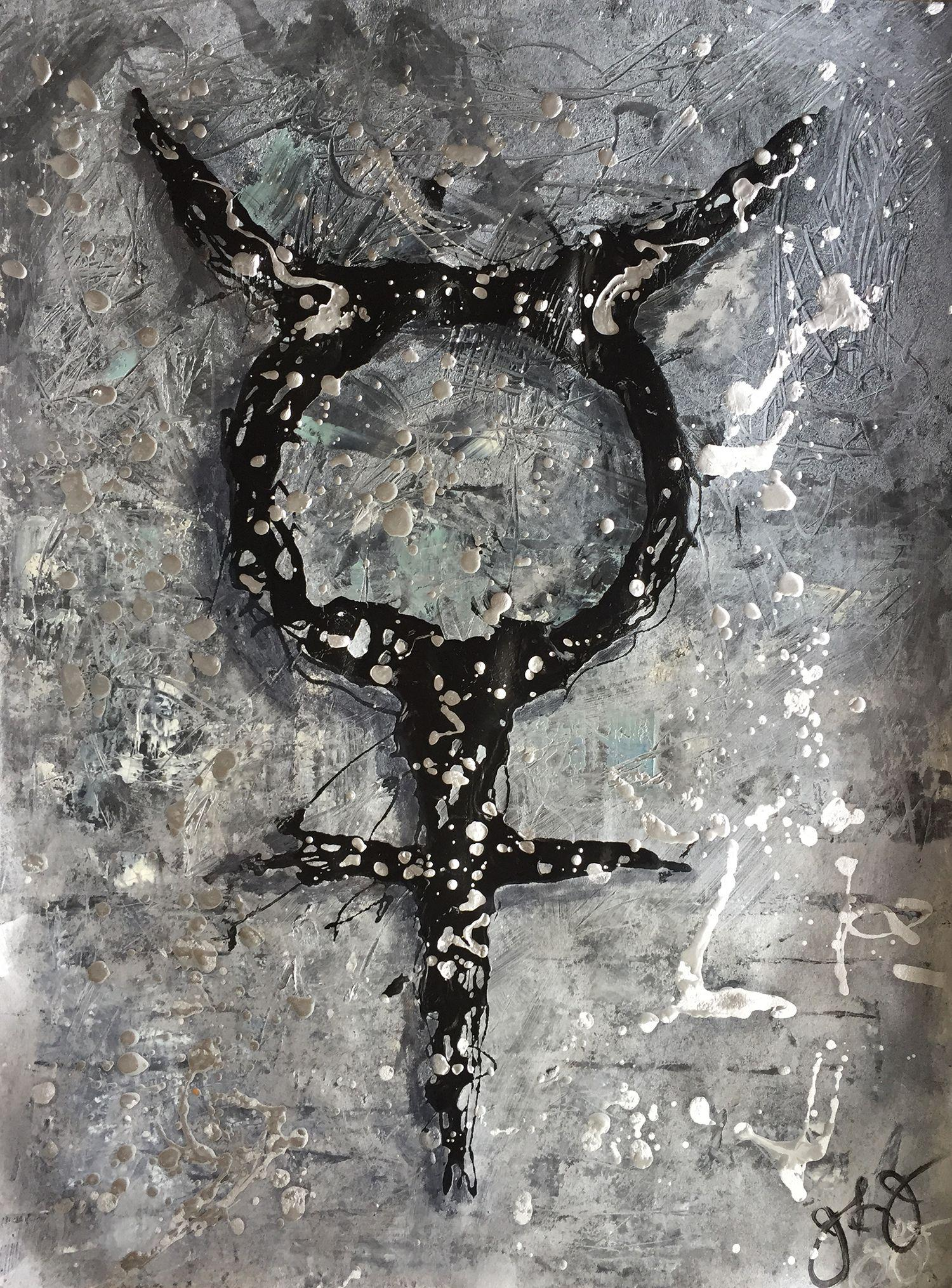 glyph 2., Mixed Media on Paper