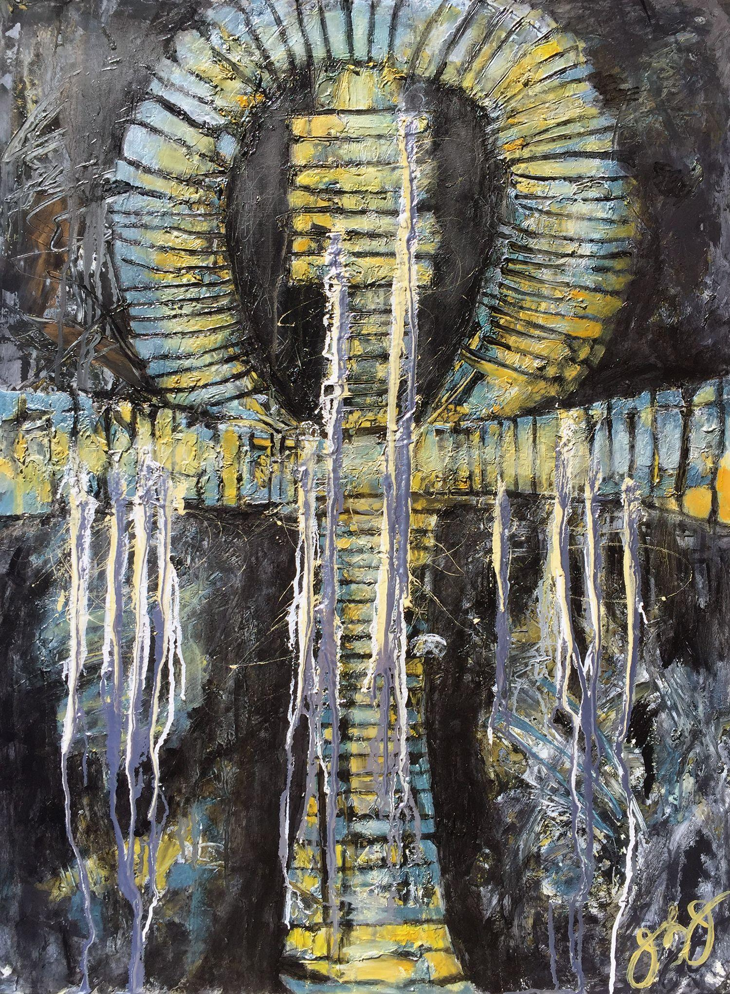 glyph 31., Mixed Media on Paper