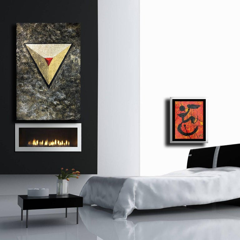 glyph 67., Mixed Media on Canvas - Abstract Mixed Media Art by Jason Lincoln Jeffers