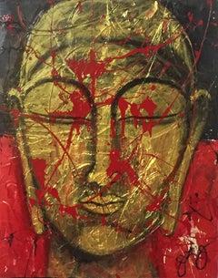 siddhartha., Mixed Media on Canvas