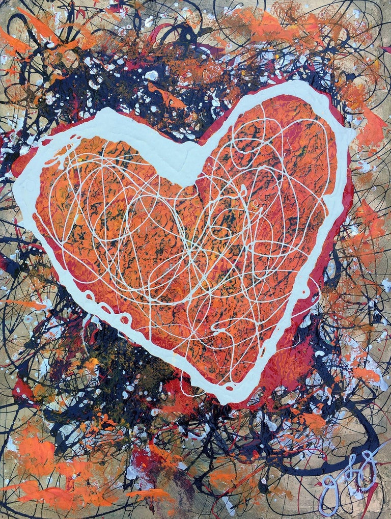 Jason Lincoln Jeffers Abstract Painting - essen's heart., Painting, Acrylic on Paper
