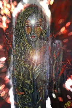 quan yin 1., Digital on Metal
