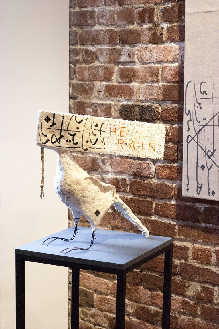 The Hawk in the Rain - Sculpture by Jason Noushin