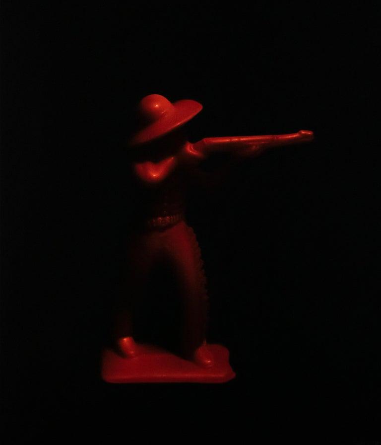 """Jason Walker Figurative Painting - """"Plastic Figure 6"""" Oil Painting"""