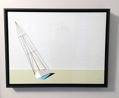 Darling, Oil, Acrylic, Sailboat, Textured, Water, Beach House, Blue, Sports