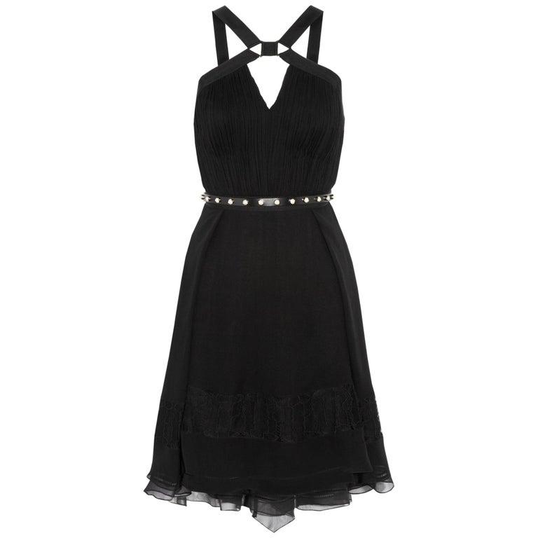 Jason Wu Collection Plissé Silk-Chiffon Dress For Sale