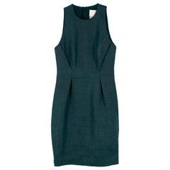 Jason Wu Jacquard Green Wool & Silk Shift Dress - Size Estimated S