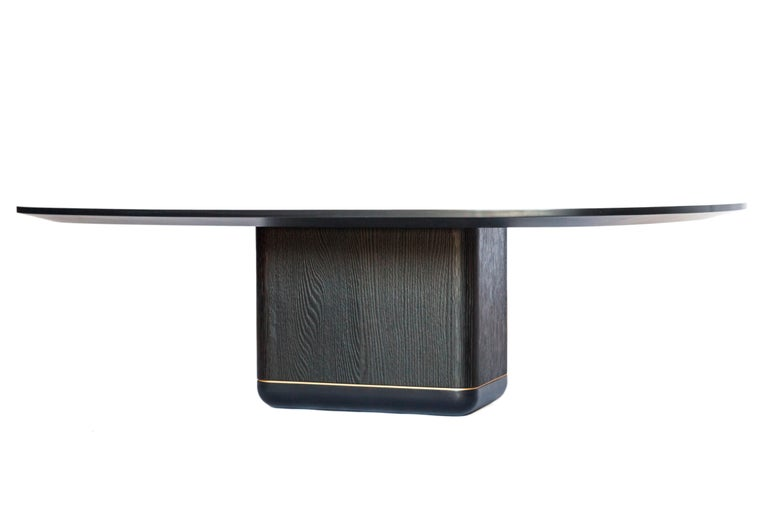 Bronze Jasper Coffee Table, Customizable Metal, Wood and Resin For Sale
