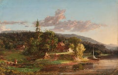 Home in the Catskills, 1848 by Jasper Francis Cropsey (1823-1900, American)