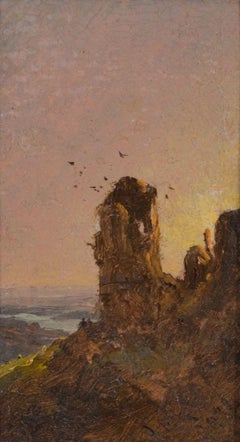 Italian Sunset, 1874, landscape by Jasper Francis Cropsey (1823-1900, American)