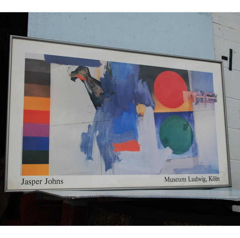 Jasper Johns 1930-   Poster from 1987 exhibition from the Museum Ludwig in Germany. Professionally framed.  Measures: Framed 32