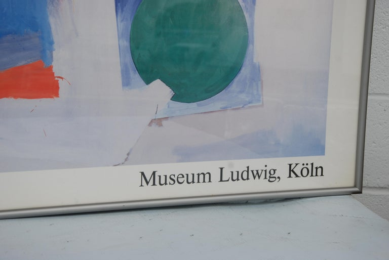 Mid-20th Century Jasper Johns 1987 Ludwig Museum Poster For Sale