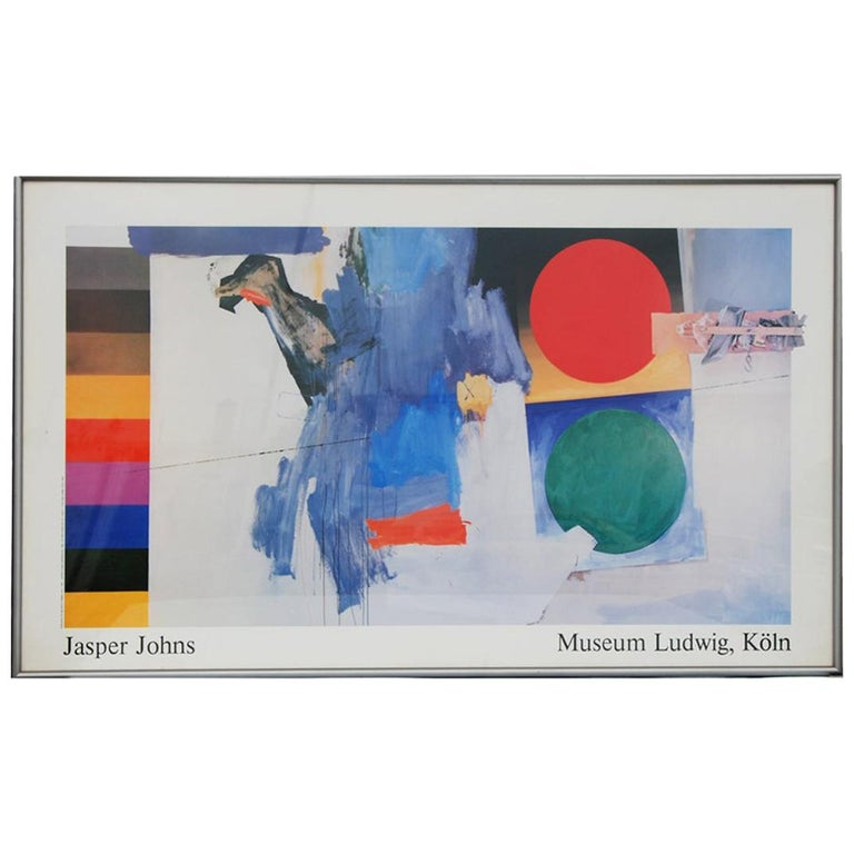 Jasper Johns 1987 Ludwig Museum Poster For Sale