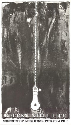 1968 After Jasper Johns 'Recent Still Life (Light Bulb)' Pop Art Black & White