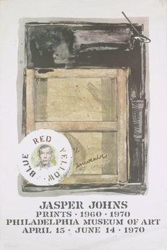 1970 After Jasper Johns 'Souvenir' Pop Art Gray Offset Lithograph