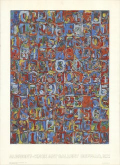 1974 After Jasper Johns 'Numbers in Color' Pop Art USA Serigraph