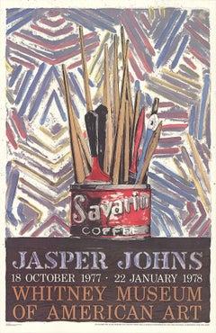 1978 Jasper Johns 'Savarin Cans-Monotype' Pop Art Multicolor USA Offset