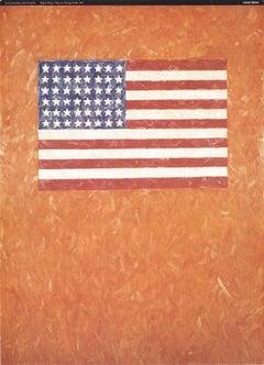 1996 After Jasper Johns 'Flag On Orange Field' Pop Art Italy Offset Lithograph