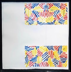 "#2 (after ""UNTITLED 1975""); 1976; Lithograph: twelve aluminum plates Rives BFK"