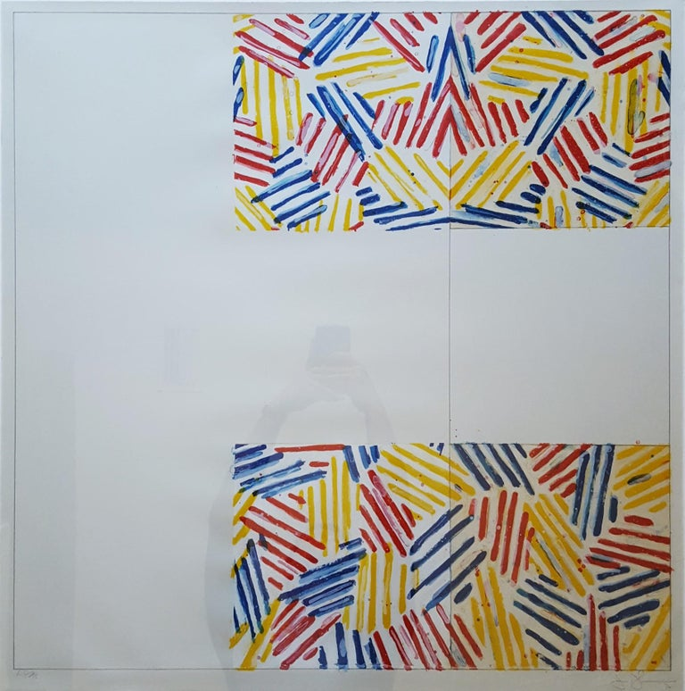 Jasper Johns Abstract Print - #2 (after 'Untitled 1975')