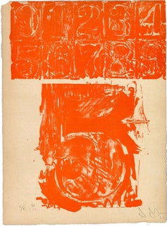 5 from 0-9 - Original Lithograph by J. Johns - 1963