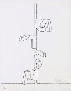Bent Blue, Jasper Johns