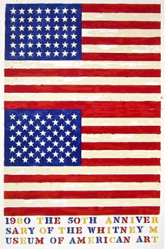 Double Flag, 1980 Whitney Museum of American Art Exhibition Offset Lithograph