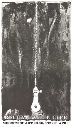 """Jasper Johns-Recent Still Life (Light Bulb)-34"""" x 20""""-Lithograph-1968-Pop Art"""
