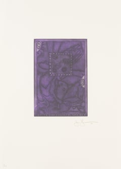 Jasper Johns, Untitled Mezzotint, 1995