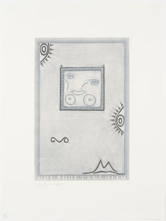 Jasper Johns, Untitled Mezzotint and Drypoint, 1995