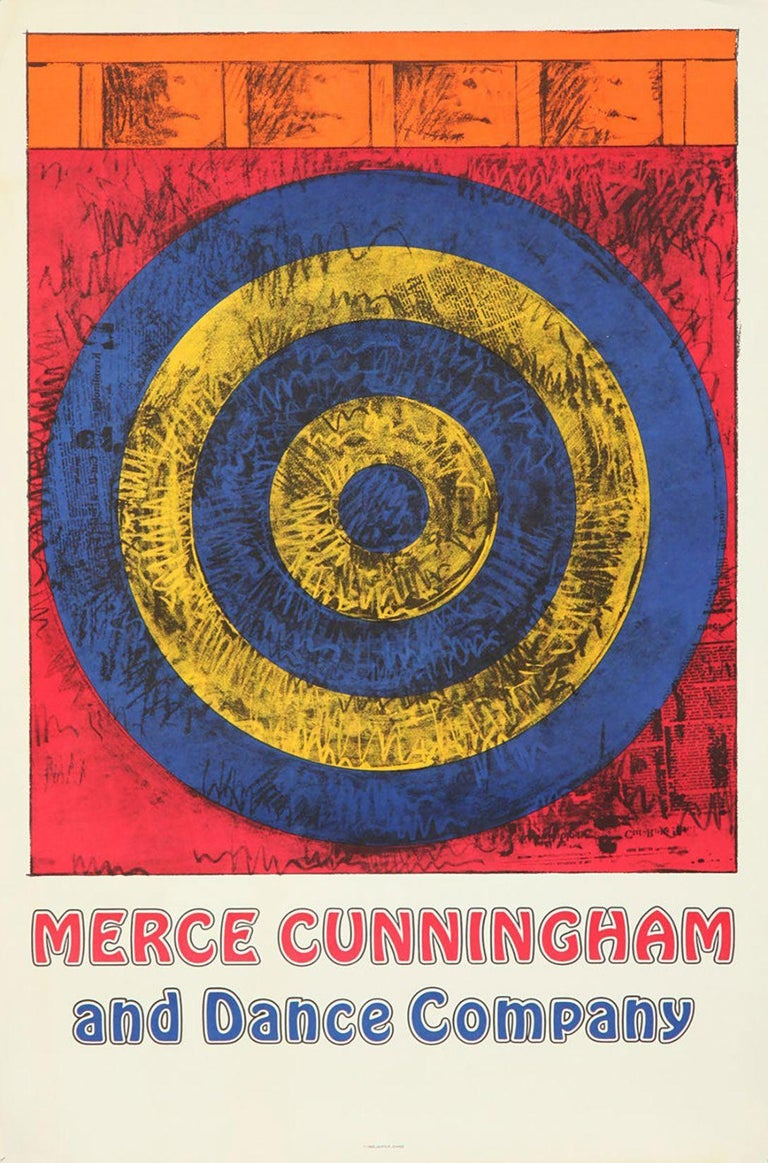 """Jasper Johns Abstract Print - """"Merce Cunningham and Dance Company (Target with Four Faces)"""""""