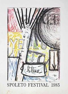 Spoleto Festival - Original Offset and Lithograph by Jasper Johns - 1985