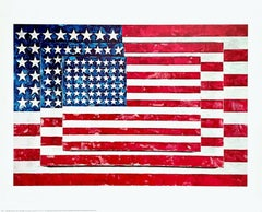 Three Flags, Offset Lithograph