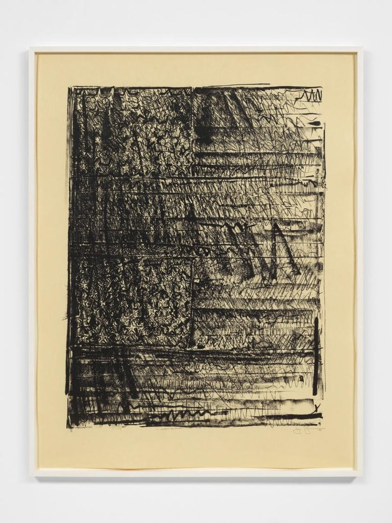 Jasper Johns Figurative Print - Two Flags
